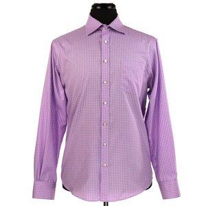 Thomas Pink Slim Fit Traveler Dress Shirt 15.5